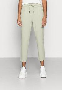 Vero Moda Petite - VMEVA LOOSE STRING PANTS - Trousers - desert sage - 0