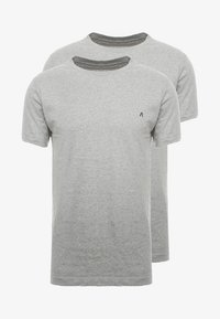 Replay - 2 PACK - T-shirt basic - grey melange - 4