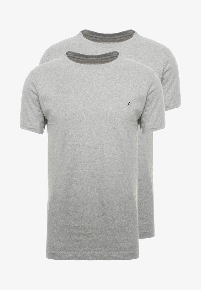 2 PACK - T-shirt basique - grey melange
