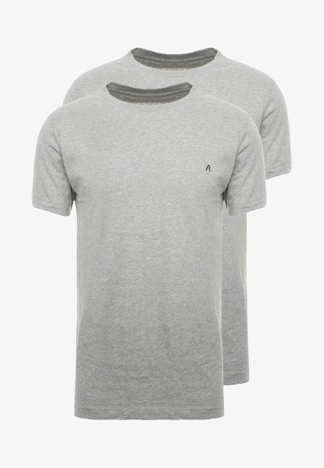 2 PACK - T-shirt basic - grey melange