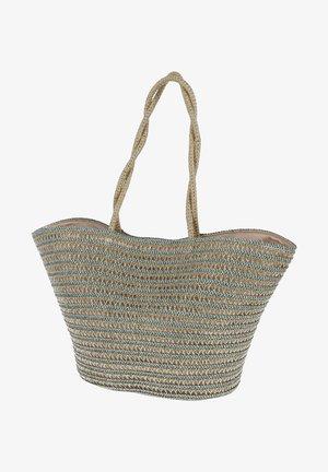 Handbag - beige/grün