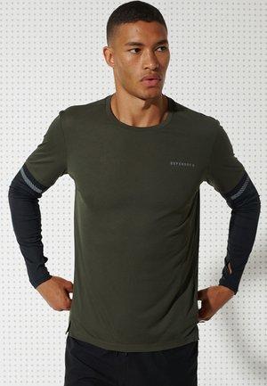 Langarmshirt - army khaki