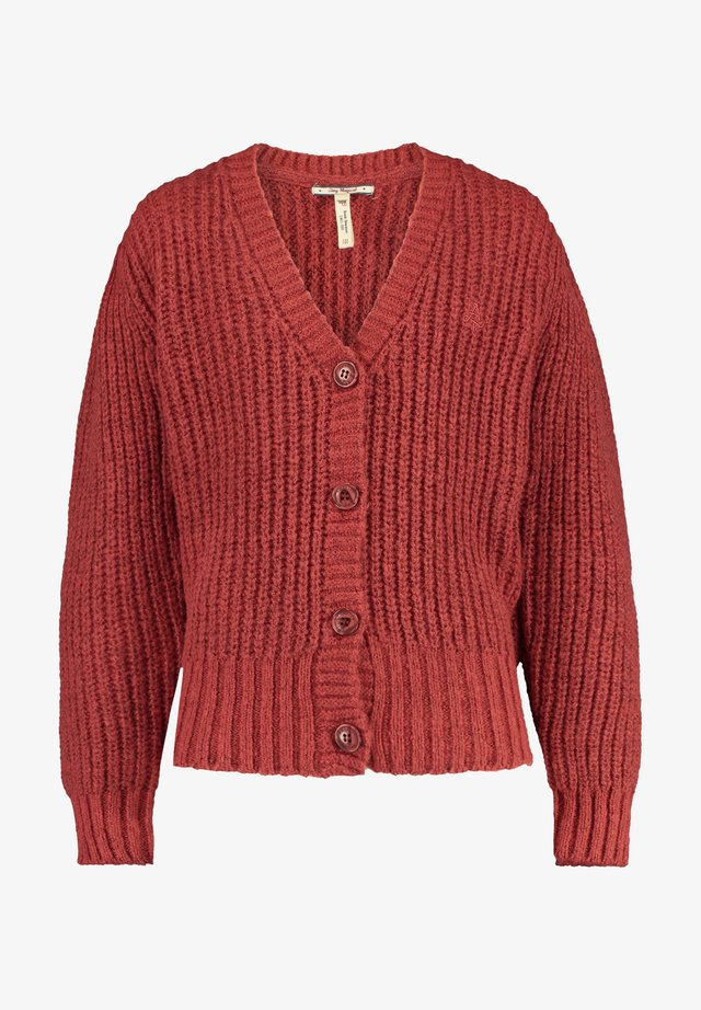 Cardigan - washed red