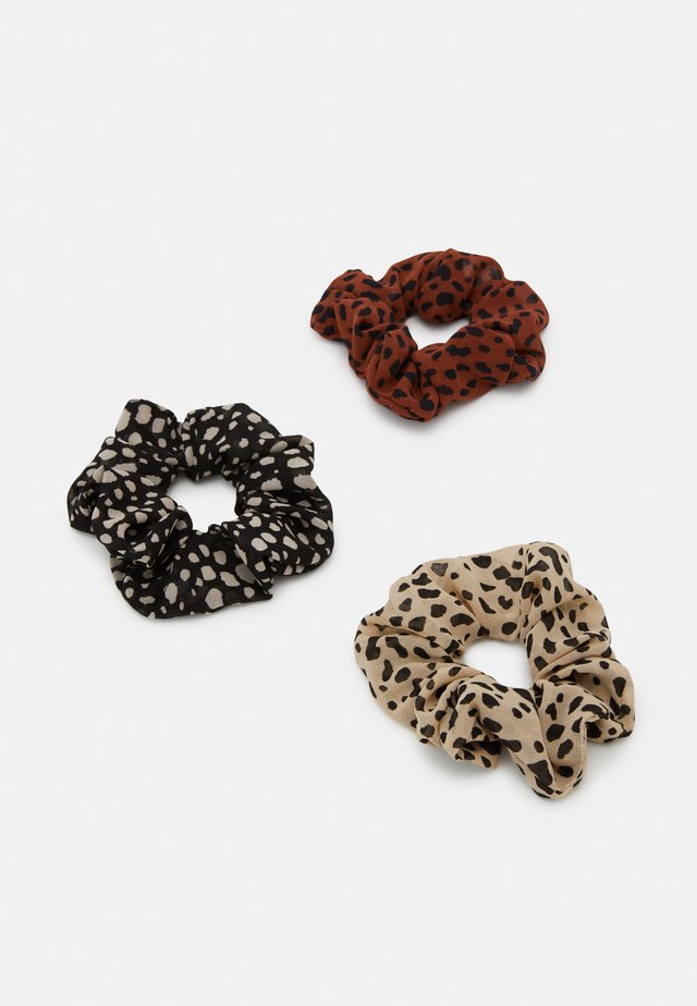 PCMACCA SCRUNCHIE 3 PACK - Haar-Styling-Accessoires - black