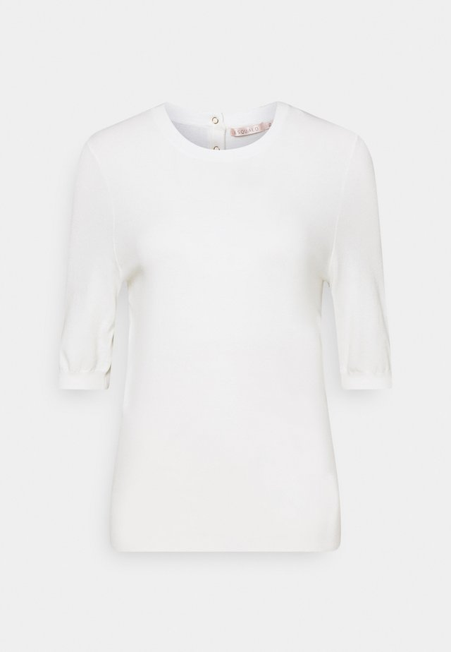 SWEATER BUTTON - T-shirt print - off white