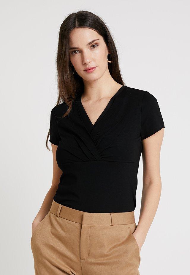 OVERLAP - T-shirt imprimé - black