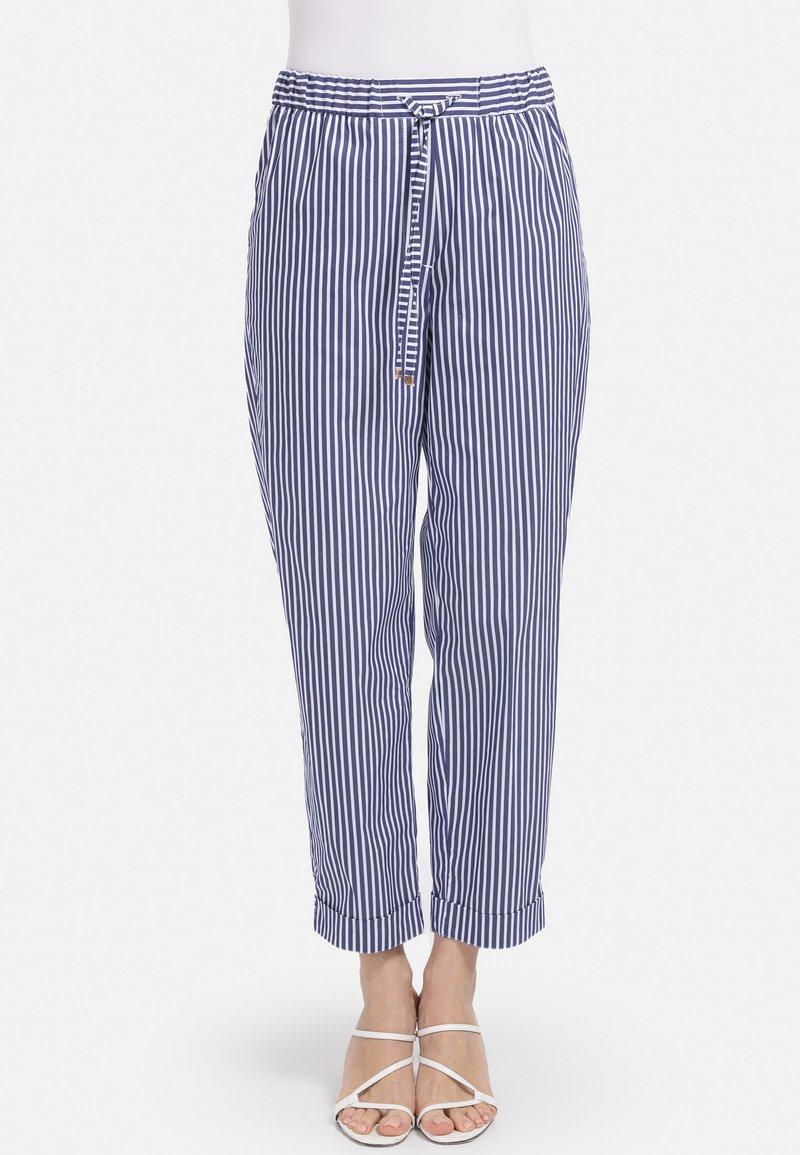 HELMIDGE - GUMMIBUND - Trousers - blau