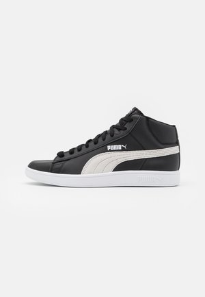 SMASH MID UNISEX - Korkeavartiset tennarit - black/white