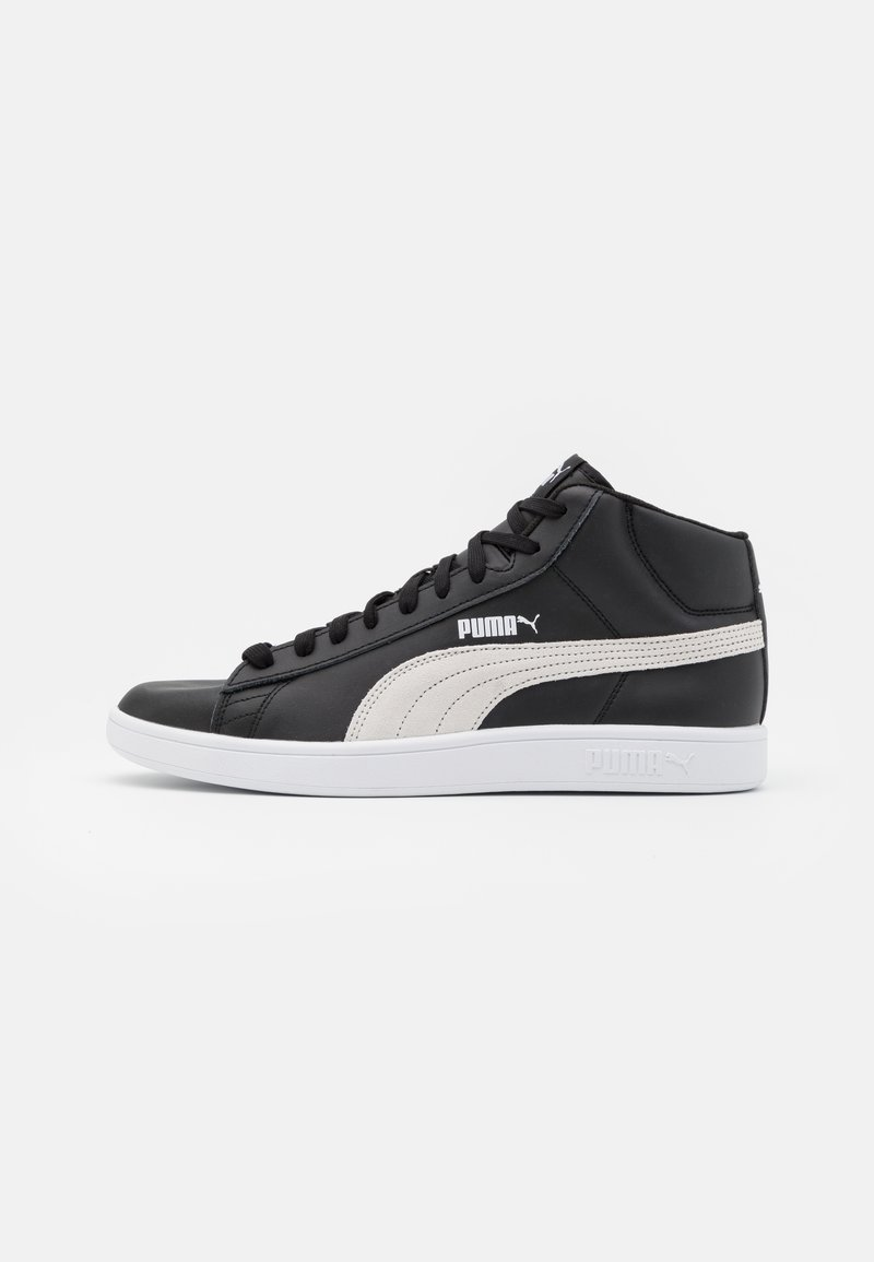 Puma - SMASH MID UNISEX - Sneakers high - black/white
