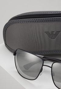 Emporio Armani - Solbriller - matte black/grey mirror silver - 2