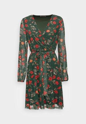 PRINTED DRESS - Jurk - green/multi-coloured