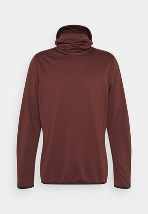 CLIME HOODED  - Fleecepullover - bitter chocolate