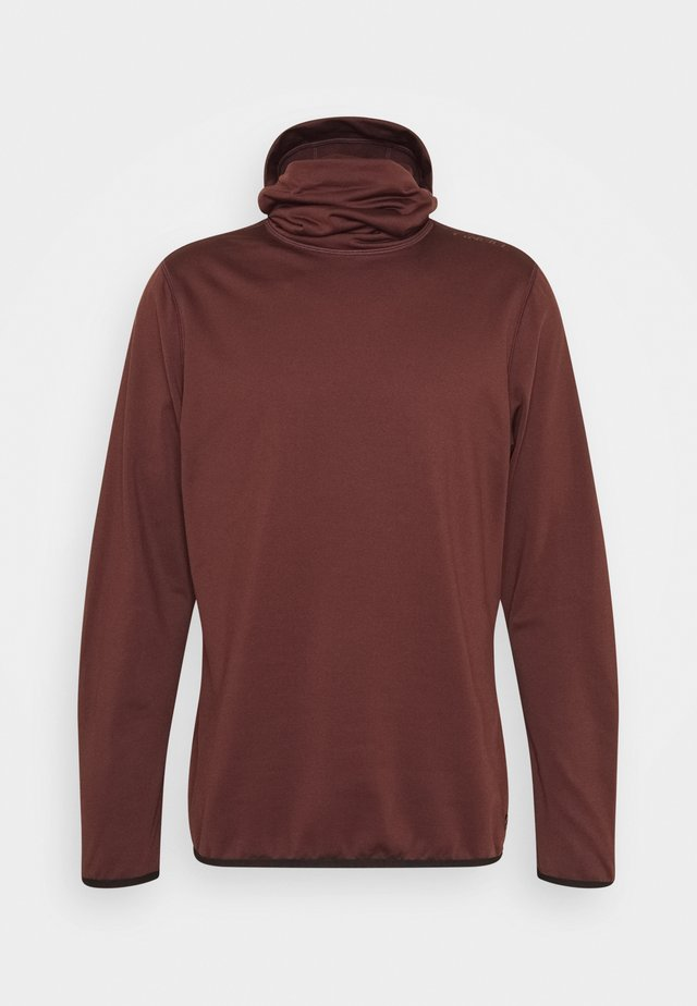 CLIME HOODED  - Fleece jumper - bitter chocolate