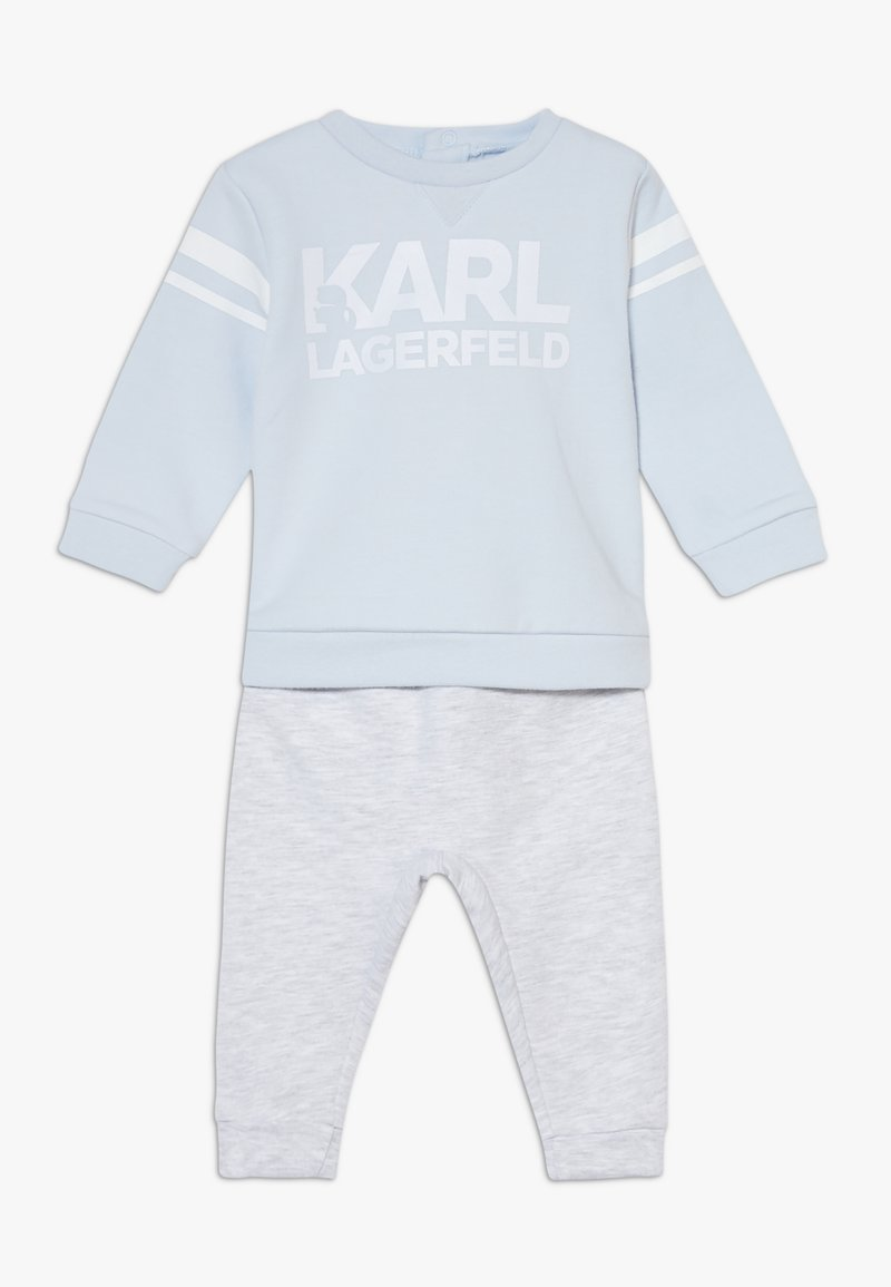 KARL LAGERFELD - TROUSERS SET BABY - Felpa - greypale blue