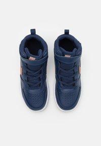 Nike Sportswear - COURT BOROUGH MID 2 UNISEX - Baskets montantes - midnight navy/metallic red bronze/white - 3