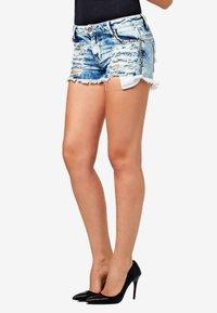Cipo & Baxx - Denim shorts - iceblue - 0