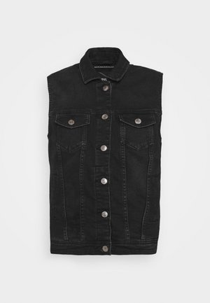 ONLTIA VEST LIFE PIM - Waistcoat - black denim
