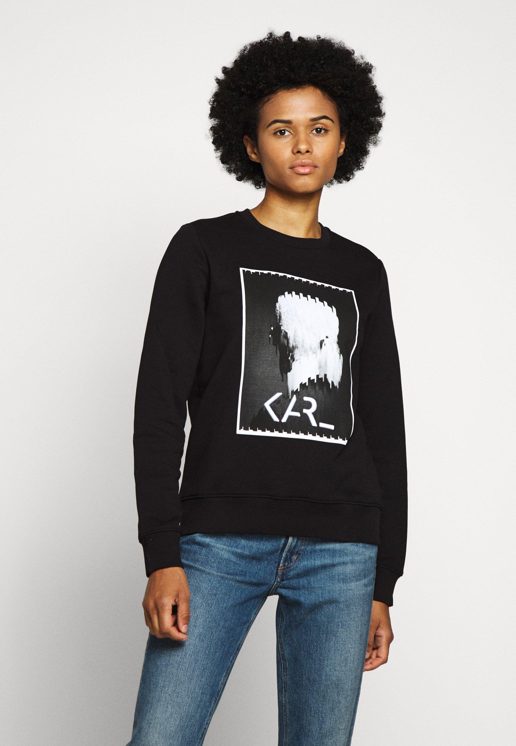 Factory Price Women's Clothing KARL LAGERFELD LEGEND PRINT Sweatshirt black tCoj1A8Ph