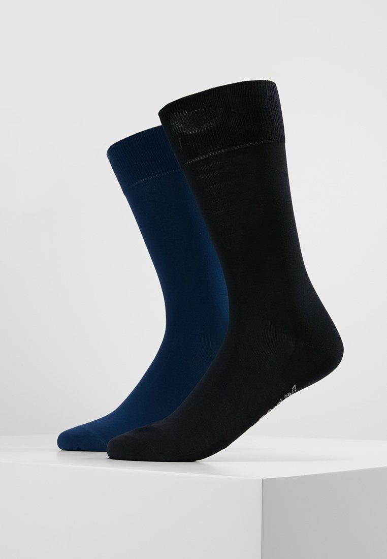FALKE - COOL 24/7 2-PACK - Calze - dark blue/royal blue