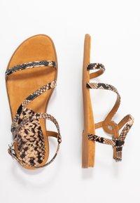 Unisa - CLARIS - Sandals - sun tan - 3