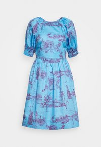 Who What Wear - CUT OUT BACK DRESS - Day dress - toile blue/burgundy - 3