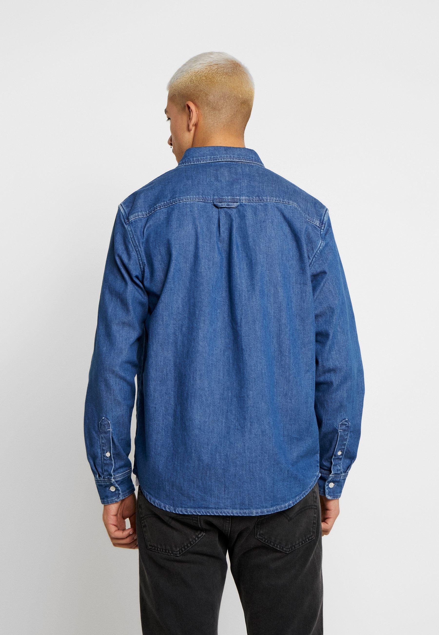 Carhartt WIP CIVIL JANESVILLE - Skjorte - blue stone washed