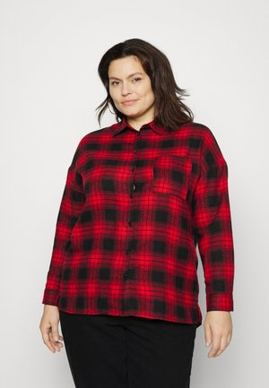 BOYFRIEND LIGHTWEIGHT DYE - Button-down blouse - red