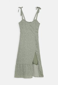 Abercrombie & Fitch - TIE SHOULDER DRESS  - Day dress - green - 4