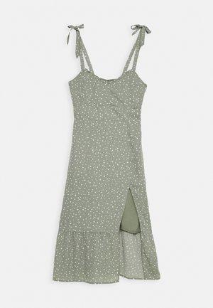 TIE SHOULDER DRESS  - Day dress - green