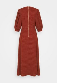 Closet - MIDI GATHERED NECK DRESS - Day dress - rust - 6