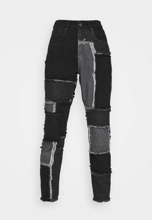 CHEAT JEAN - Straight leg -farkut - mixed charcoal