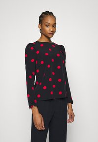 Dorothy Perkins - SPOT STABLE PUFF LONG SLEEVE - Long sleeved top - red - 3