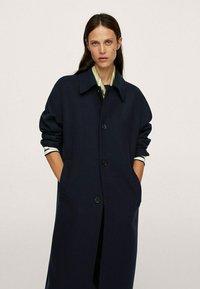 Mango - Classic coat - donkermarine - 0