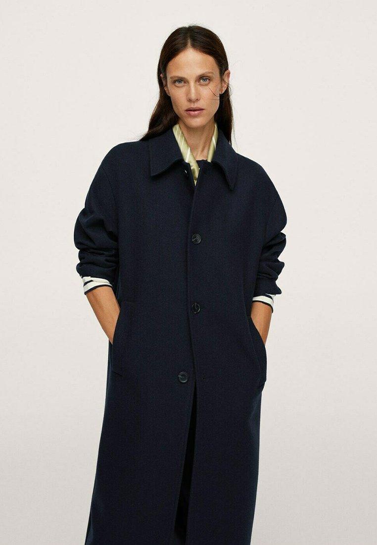 Mango - Classic coat - donkermarine
