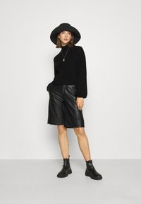 Noisy May - NMSIAN HIGH NECK  - Jumper - black - 1
