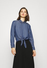 comma - LANGARM - Button-down blouse - dark blue - 0