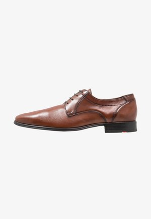 OSMOND - Smart lace-ups - cognac