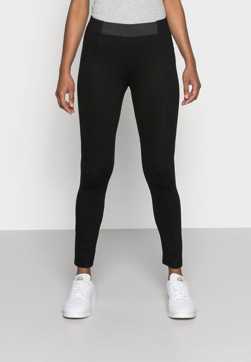 Esprit - PUNTO PANT - Leggings - Trousers - black