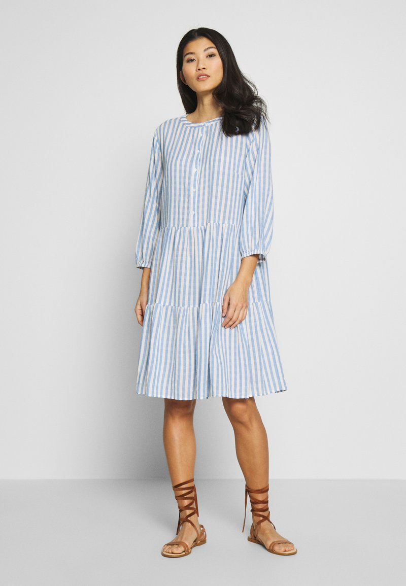 Culture - NOOR STRIPE DRESS - Shirt dress - mazarine blue