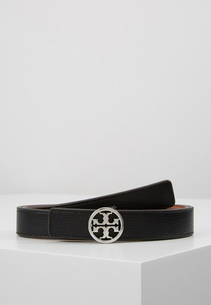 REVERSIBLE LOGO BELT - Cintura - black/silver-coloured
