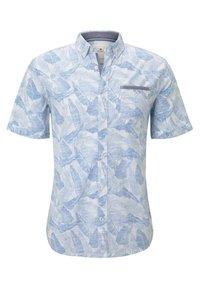 TOM TAILOR - RAY SLUB HOLIDAY PRINT - Shirt - white blue big leaves design - 0