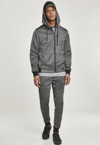 Southpole - HERREN MARLED TECH FLEECE FULL ZIP HOODY - Sweatjacke - marled black - 3
