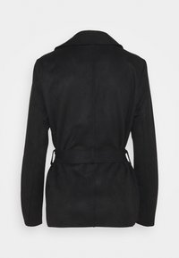 Vila - VIJAKY SHORT TRENCH COAT - Summer jacket - black - 1