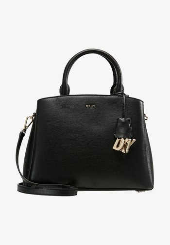 MEDIUM SATCHEL - Handbag - black/gold