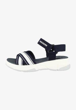Sandalen met sleehak - navy blue