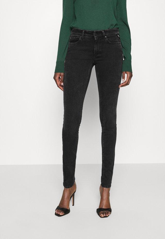 NEW LUZ RE-USED - Jeans Skinny Fit - black denim