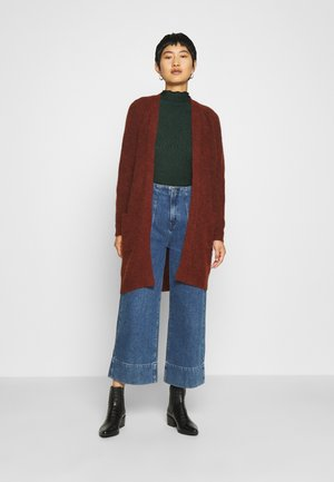 SLFLULU LONG CARDIGAN - Strikjakke /Cardigans - bordeaux