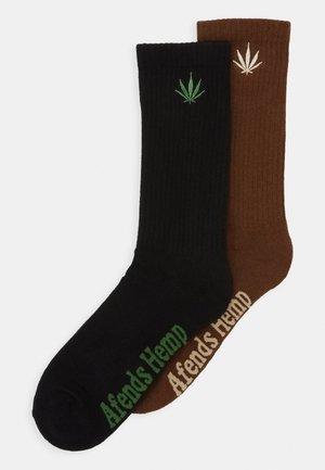 HAPPY 2 PACK - Socks - black/chocolate