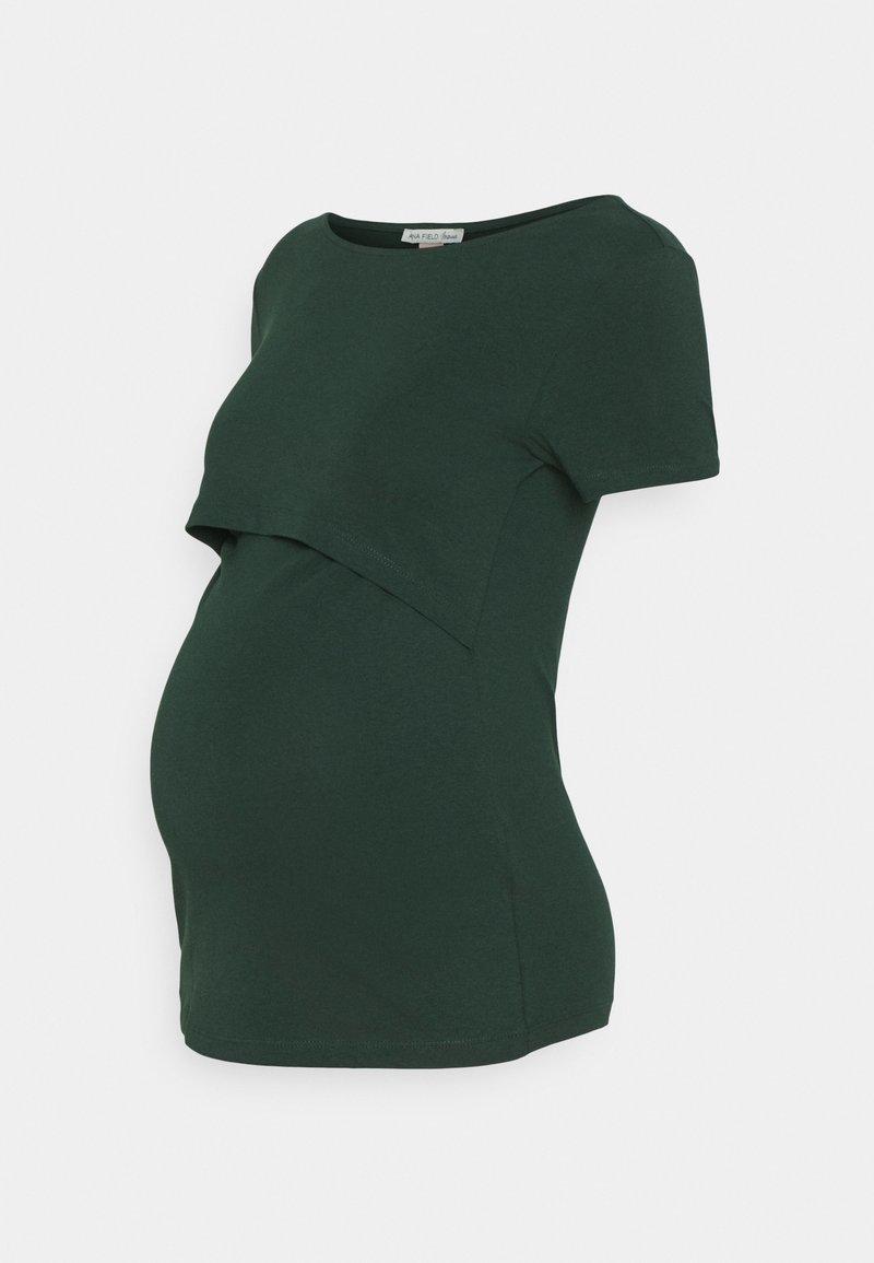 Anna Field MAMA - NURSING FUNCTION t-shirt - T-shirts - dark green