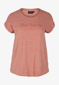 Zizzi - Print T-shirt - brown - 3